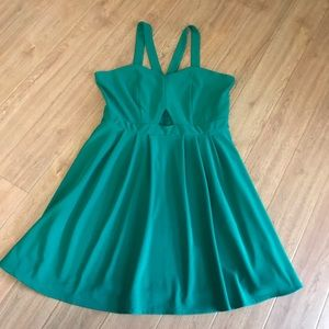 Green Skater Dress with Cutout Detail NWT